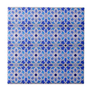 Blaues marokkanisches geometrisches Muster Kleine Quadratische Fliese