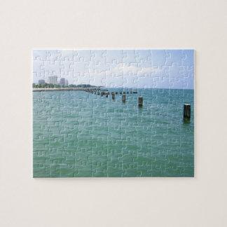 Blaues Michigansee-Wasser Puzzle
