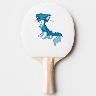 Blaues Miezekatze-Paddel Tischtennis Schläger