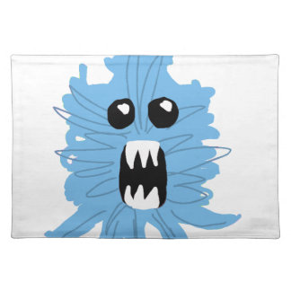 Blaues Monster-Packpapier Tischset