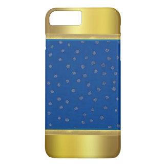 Blaues Muster mit Gold spitzt iPhone 7 Pluskasten iPhone 7 Plus Hülle