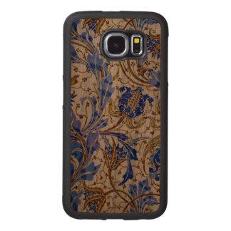 Blaues Nouveau Handyhülle Aus Holz