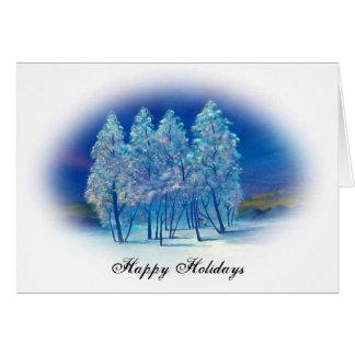 Blaues Oval des Weihnachten#4 Karte