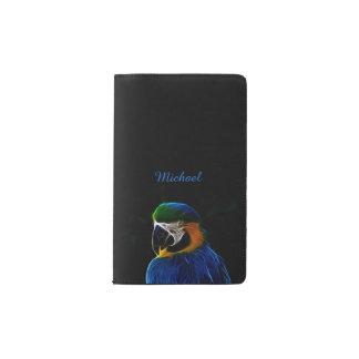 Blaues Papageien-Fraktal Digital Moleskine Taschennotizbuch