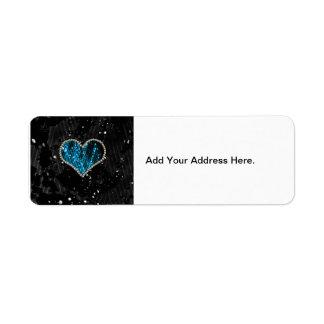 Blaues Perlen-Herz