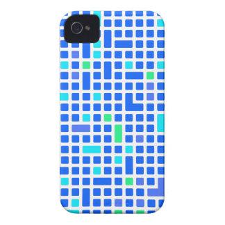 Blaues Pixel- oder Quadratmuster iPhone 4 Case-Mate Hülle
