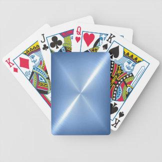 Blaues Platin-rostfreies glänzendes Metall Poker Karten