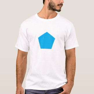 Blaues Polygon T-Shirt