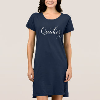 Blaues Quäker-Mitternachtskleid Kleid