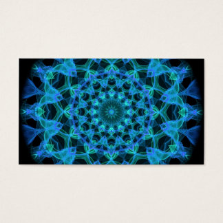Blaues Quallen-Kaleidoskop Visitenkarte