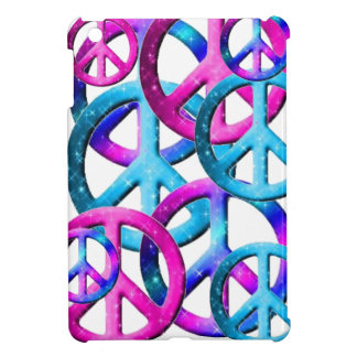 Blaues rosa lila Friedenszeichen MiniiPad Etui Fürs iPad Mini