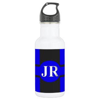 Blaues Schwarz-Bild JR. Trinkflaschen