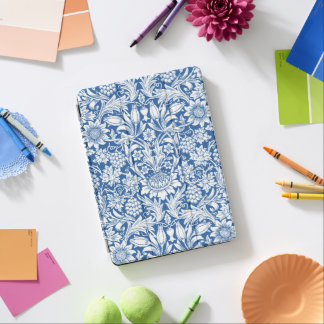 Blaues Sonnenblume-Muster durch William Morris iPad Pro Cover