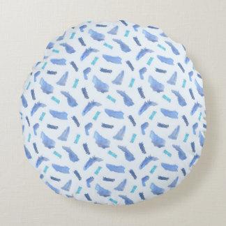 Blaues Stellen-Baumwollrundes Wurfs-Kissen Rundes Kissen