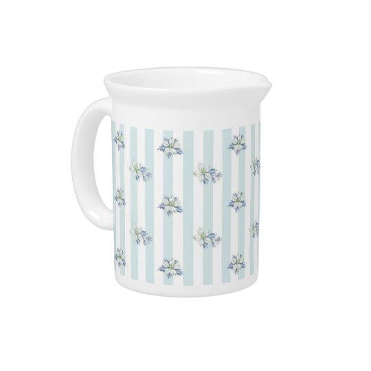 Blaues u. weißes Weihnachtskrug Getränke Krug
