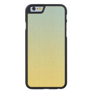 Blaues und gelbes Ahorn-Holz Carved® iPhone 6 Hülle Ahorn