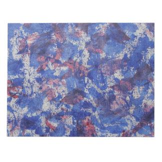 Blaues und rotes Aquarell Notiz Blöcke