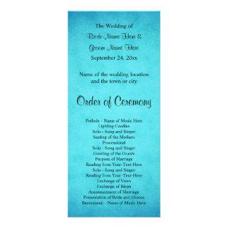 Blaues und schwarzes Hochzeits-Programm Werbekarte