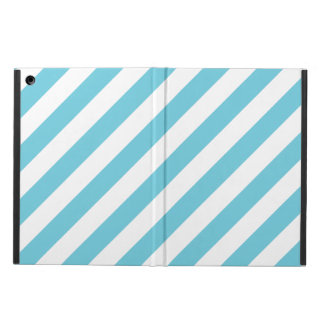 Blaues und weißes diagonales Streifen-Muster
