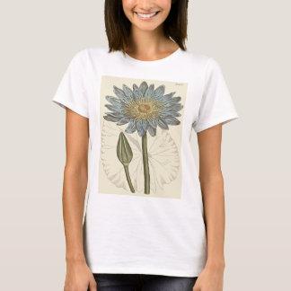 Blaues Wasser-Lilien-botanische Illustration T-Shirt