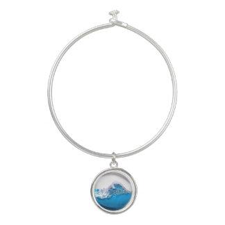 Blaues Wasser-Ozean-Wellen-rundes Armreif