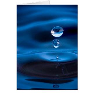 Blaues Wasser-Tropfen Grußkarte