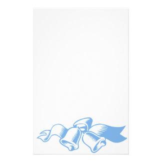 Blaues Weihnachten Bell Briefpapier