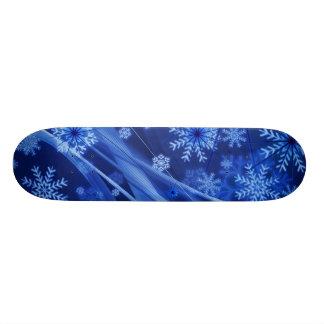 Blaues Winter-Schneeflocke-Weihnachten Personalisierte Skateboarddecks