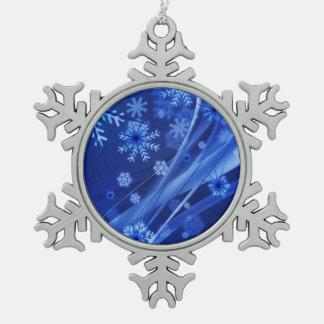 Blaues Winter-Schneeflocke-Weihnachten Schneeflocken Zinn-Ornament