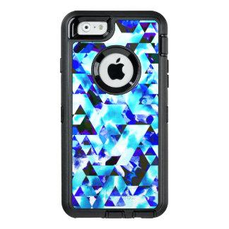 Blaues Wolken-Aquarell-geometrischer Stammes- OtterBox iPhone 6/6s Hülle
