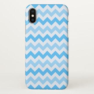 Blaues Zickzack iPhone X Hülle