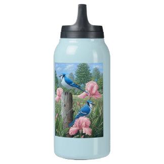 Blauhäherflasche Isolierte Flasche