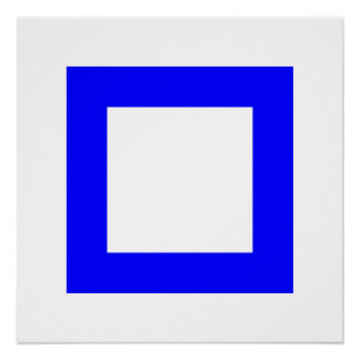Blauquadrat 3 poster