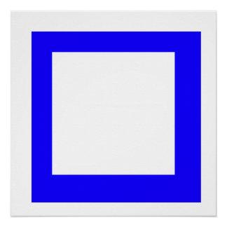 Blauquadrat Poster