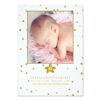 Blendungs-Ankunfts-Foto-Geburts-Mitteilung 12,7 X 17,8 Cm Einladungskarte