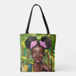 Blinzeln der Afro-Mädchen-Tasche