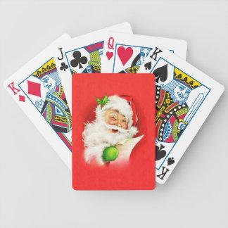 Blinzeln von Weihnachtsmann Bicycle Spielkarten