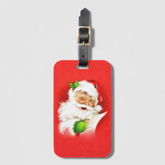 Blinzeln von Weihnachtsmann Kofferanhänger