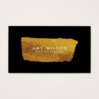 Blogger-elegantes Imitat-Gold und schwarze Visitenkarte
