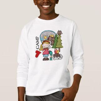 Blonde Liebe-Lager-T - Shirts des Mädchen-I