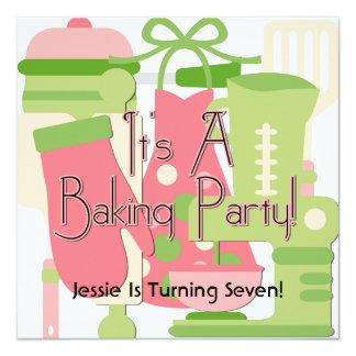 Blonde Mädchen-Backen-Party-Geburtstags-Einladunge Personalisierte Ankündigungen