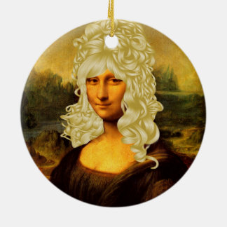 Blonde Mona Lisa Keramik Ornament