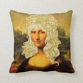 Blonde Mona Lisa Kissen