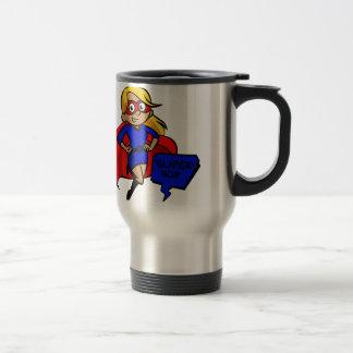 blonde Supermamma Reisebecher