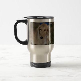 Blonder Saluki Hund Reisebecher