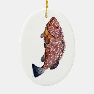 Bloß, Fisch, chernia garopa, Keramik Ornament
