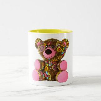Blossom teddy bear mug zweifarbige tasse