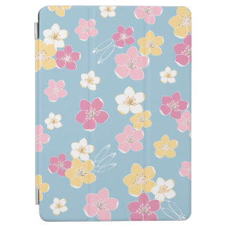Blue hawaiian pink exotic flowers Wellenreiten iPad Air Hülle