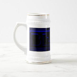 Blue Neon Black Plastic Brewing Company Bierglas