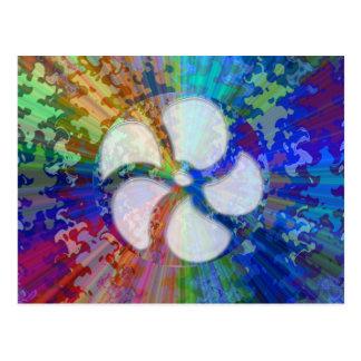 BlueRay Regenbogen BlumenChakra Postkarte